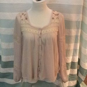 Never Worn FREE PEOPLE Top  Button Up Floral